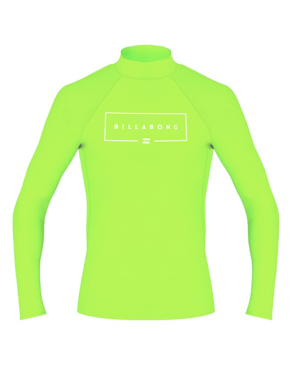 0 Boys' Union Performance Fit Long Sleeve Green BR60VBUN Billabong