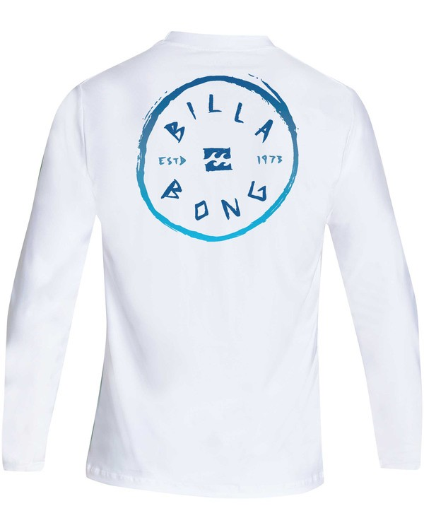 0 Boys' Rotohand Loose Fit Long Sleeve Rashguard White BR61TBRO Billabong