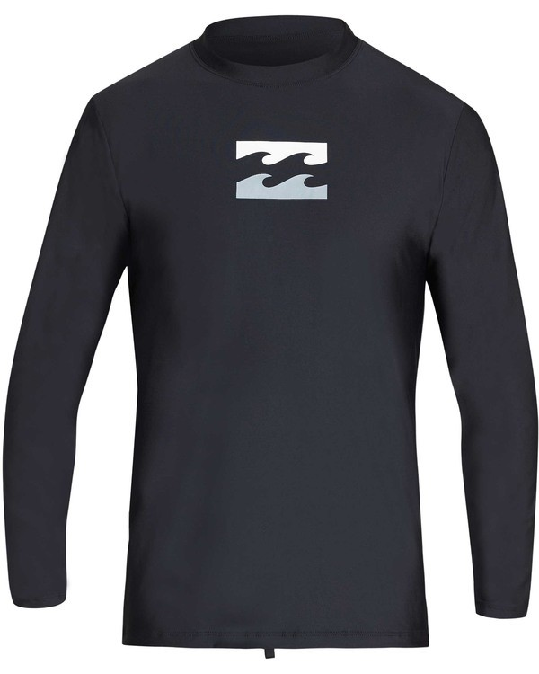 0 Boys' All Day Wave Loose Fit Long Sleeve Rashguard Black BR61TBWL Billabong