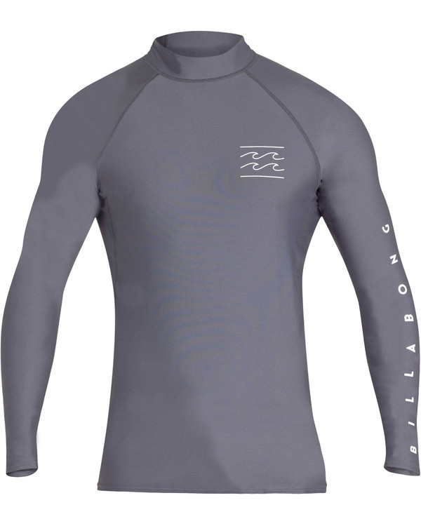 0 Boys' Unity Performance Fit Long Sleeve Long Sleeve Rashguard Grey BR62TBUY Billabong