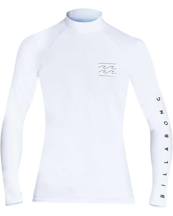 0 Boys' Unity Performance Fit Long Sleeve Long Sleeve Rashguard White BR62TBUY Billabong