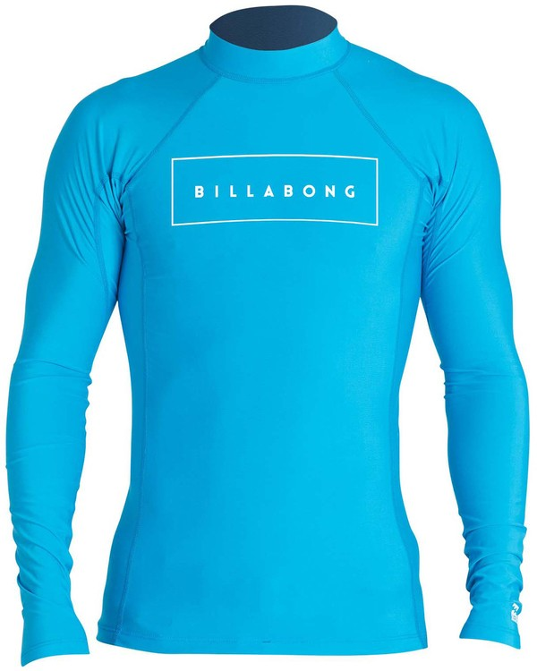 0 Boys' All Day United Performance Fit Long Sleeve Rashguard Blue BR64NBAU Billabong