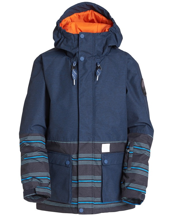 0 Boys' Fifty 50 Outerwear Jacket Blue BSNJQFIF Billabong