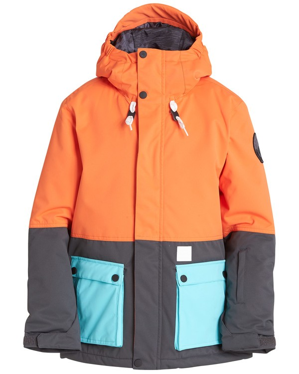 0 Boys' Fifty 50 Outerwear Jacket Orange BSNJQFIF Billabong
