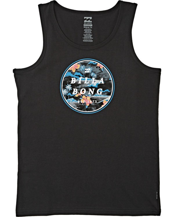 0 Boys' Rotor Tank Black BT832BRO Billabong