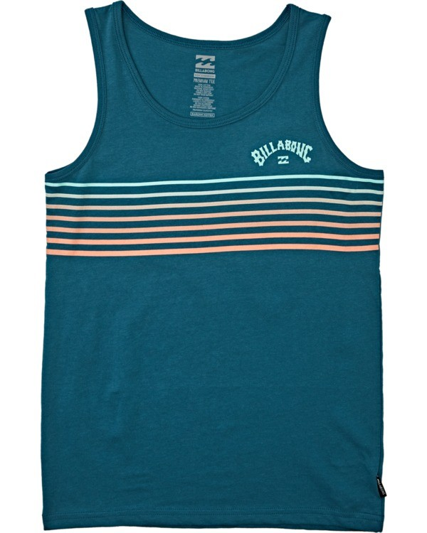 0 Boys' Spinner Tank Blue BT832BSP Billabong