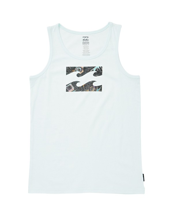 0 Boys' Team Wave Tank Blue BT83UBTE Billabong