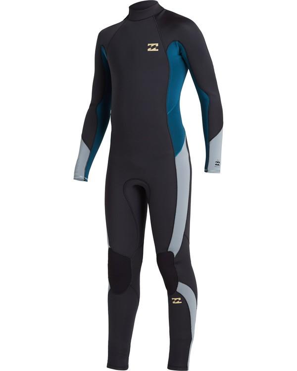 0 Boys' 3/2 Absolute Back Zip Wetsuit Black BWFU3BA3 Billabong