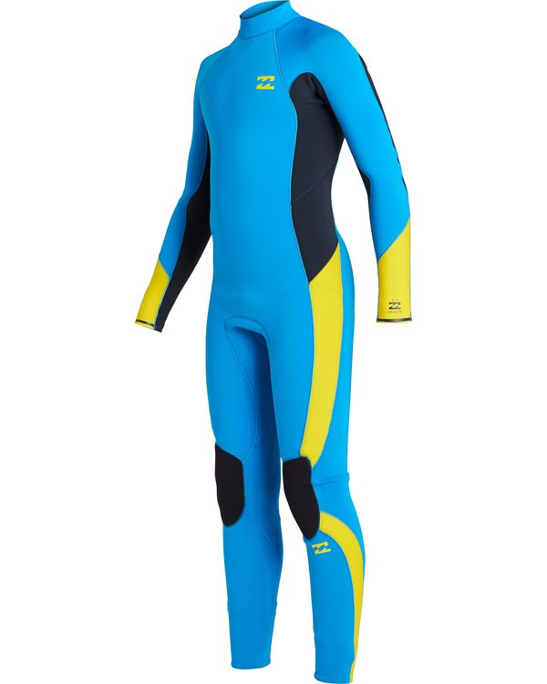0 Boys' 3/2 Absolute Back Zip Wetsuit Blue BWFU3BA3 Billabong