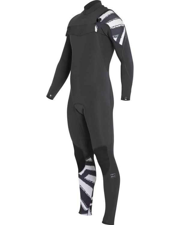 0 Boys' 302 Furnace Comp Chest Zip Fullsuit Black BWFULFC3 Billabong