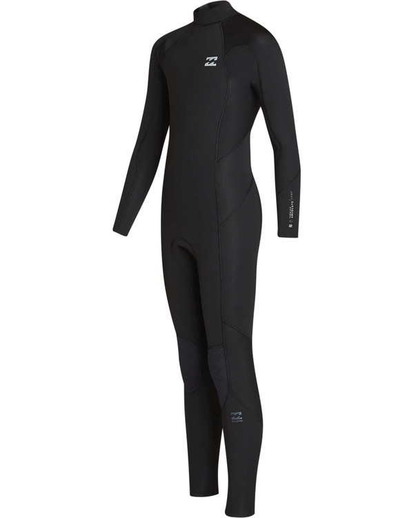 0 Boys' 4/3 Absolute Back Zip Long Sleeve Full Wetsuit Black BWFUTBA4 Billabong