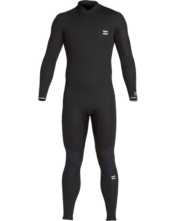 0 Boys' 4/3 Absolute Back Zip Fullsuit Black BWFUVBA4 Billabong