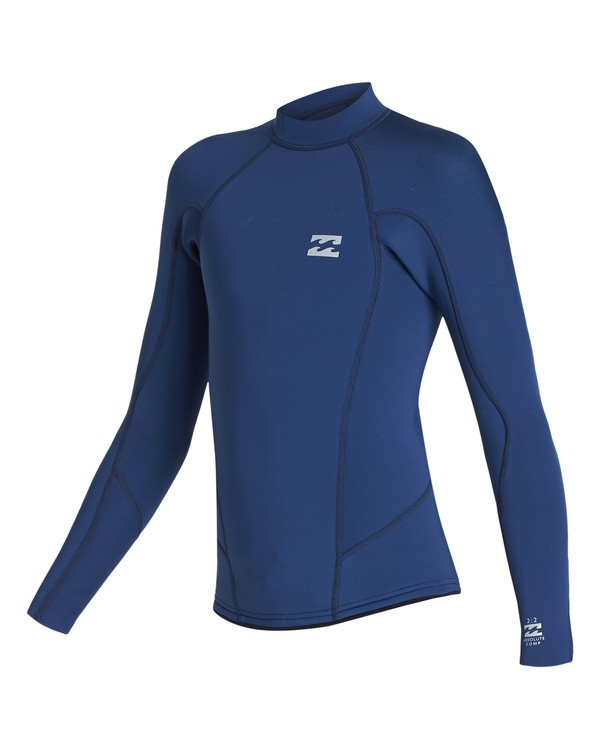 0 2/2 Boys Absolute Comp Long Sleeve Jacket Blue BWSH1BAL Billabong