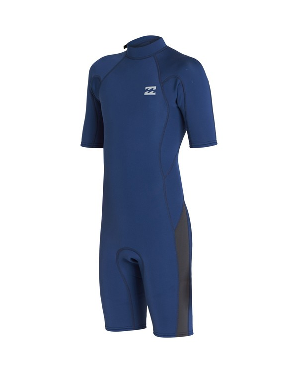 0 2/2 Boys Absolute Back Zip Wetsuit Blue BWSP1BAB Billabong