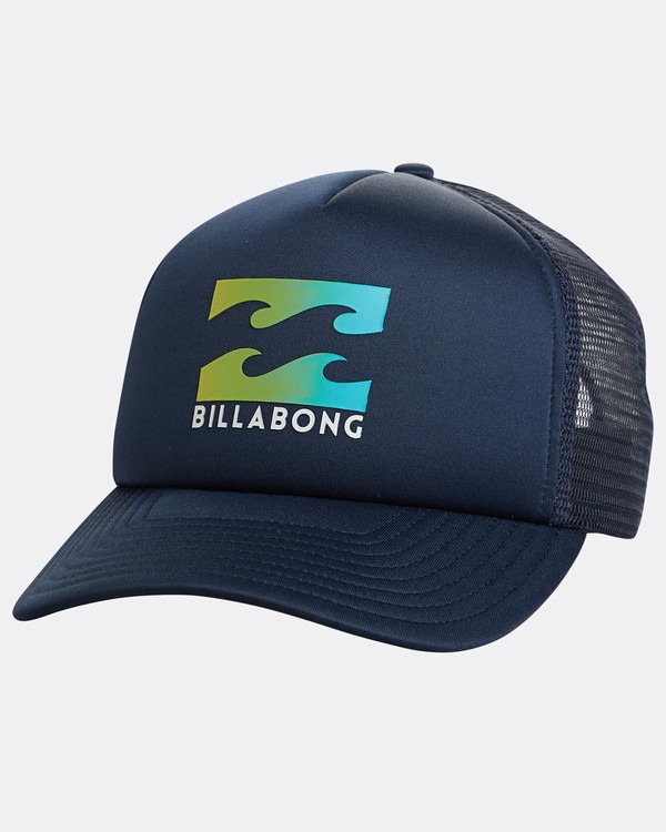 0 Podium Trucker Hat Blue C5CT01BIP7 Billabong