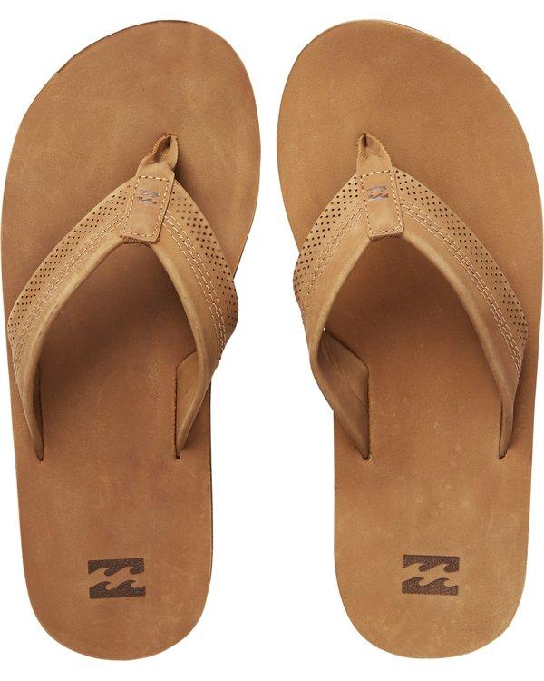 0 All Day Leather Flip Flops  C5FF12BIP7 Billabong