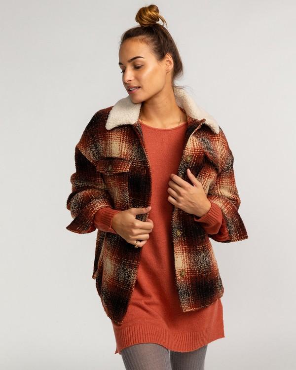 0 Lucky Wool Jacket Red EBJJK00102 Billabong