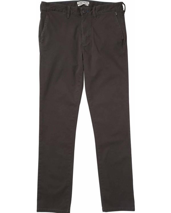 0 New Order Chino Pants Grey F1PT01BIF7 Billabong