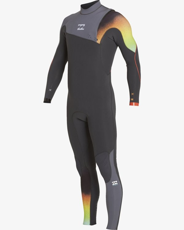 0 3/2 Boys Furnace Comp Zipperless Wetsuits Grey F43B10BIF7 Billabong