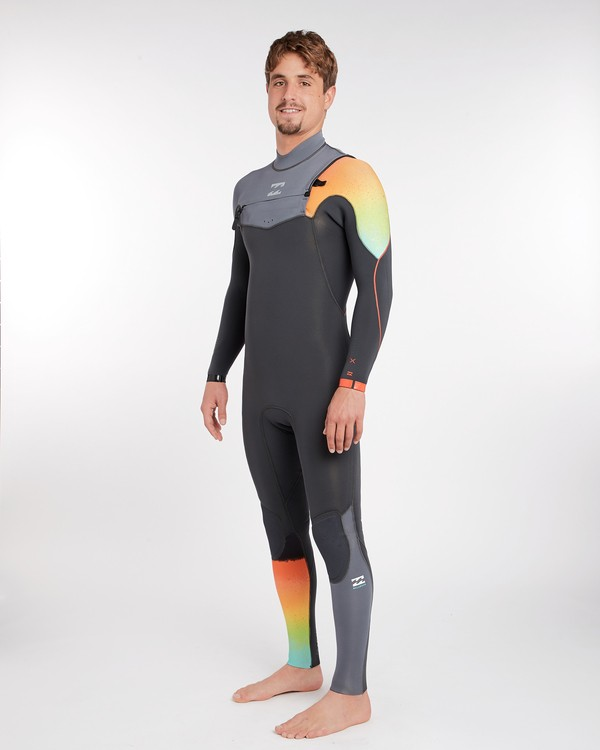 0 3/2 Furnace Comp Chest Zip Wetsuits Gris F43M14BIF7 Billabong