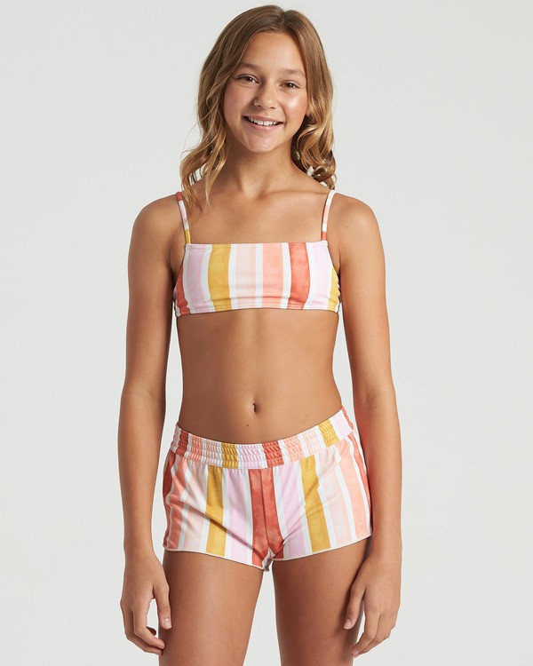 0 Girls' So Stoked Swim Short Grey G1013BSO Billabong