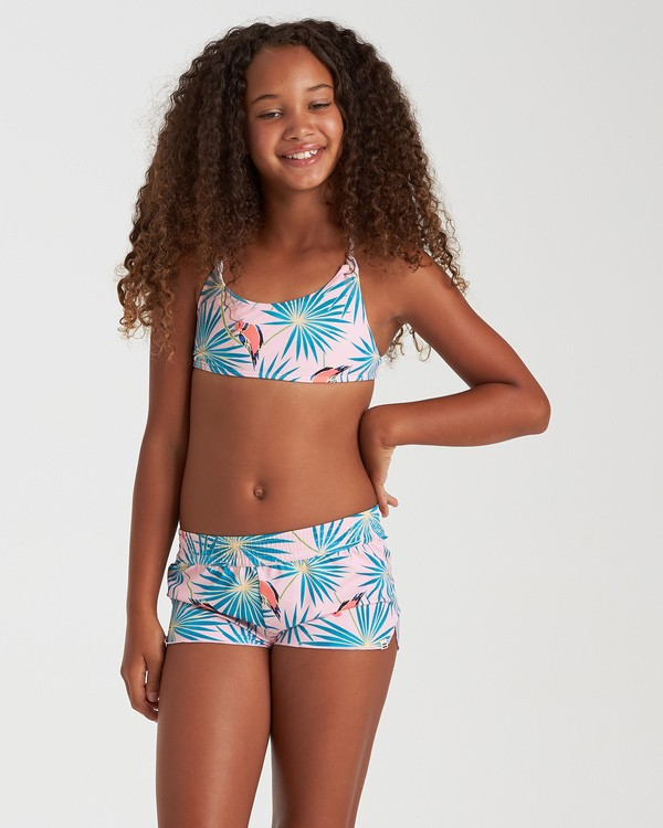 0 Girls' Luv Birds Volley Swim Short Grey G1022BLU Billabong
