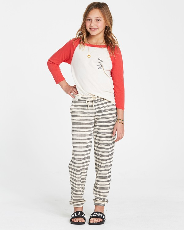 0 Girls' Here We Go Sweatpants White G307SBHE Billabong