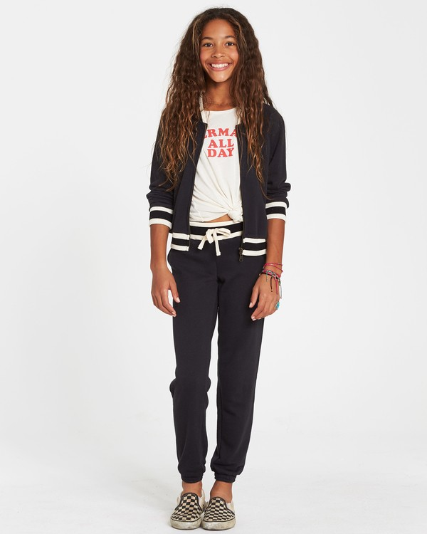 0 Girls' Girls' Rule Sweatpant Black G309SBGI Billabong