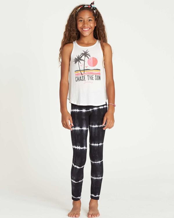 0 Girls' Leg Up Tie-Dye Leggings Black G310SBLE Billabong