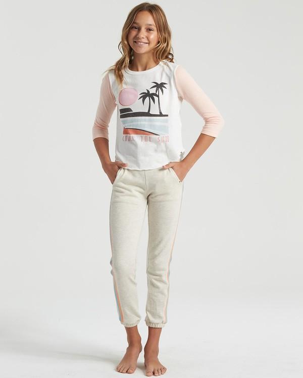 0 Girls' Stripes Today Sweatpants Grey G3403BST Billabong