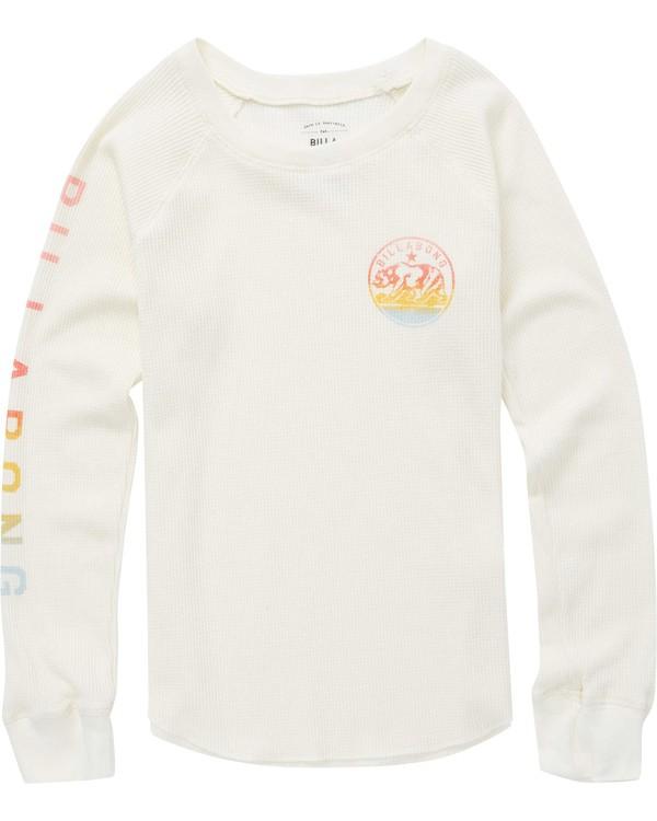0 Girls' Billabong Bear Thermal Long Sleeve T-Shirt  G413QBBI Billabong