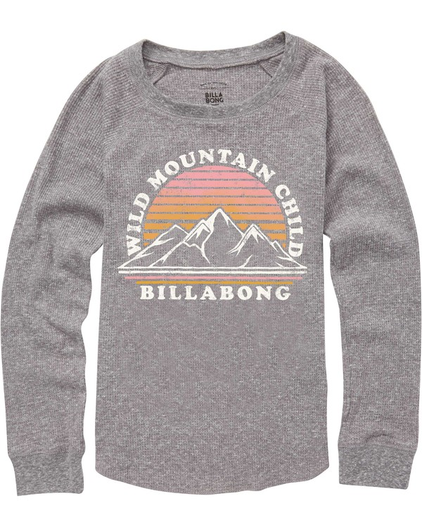 0 Girls' Wild Mountain Thermal Long Sleeve T-Shirt  G413QBWI Billabong