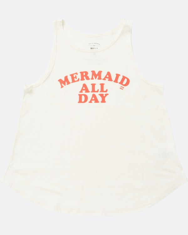 0 Girls' All Day Mermaid Tank White G414SBAL Billabong