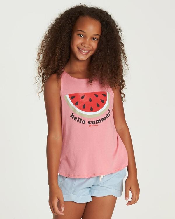0 Hello Summer Tank Pink G414UBHE Billabong