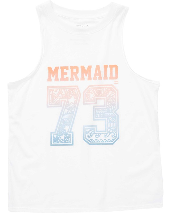 0 Girls' Mermaid Seventy Three Tank White G417NBME Billabong