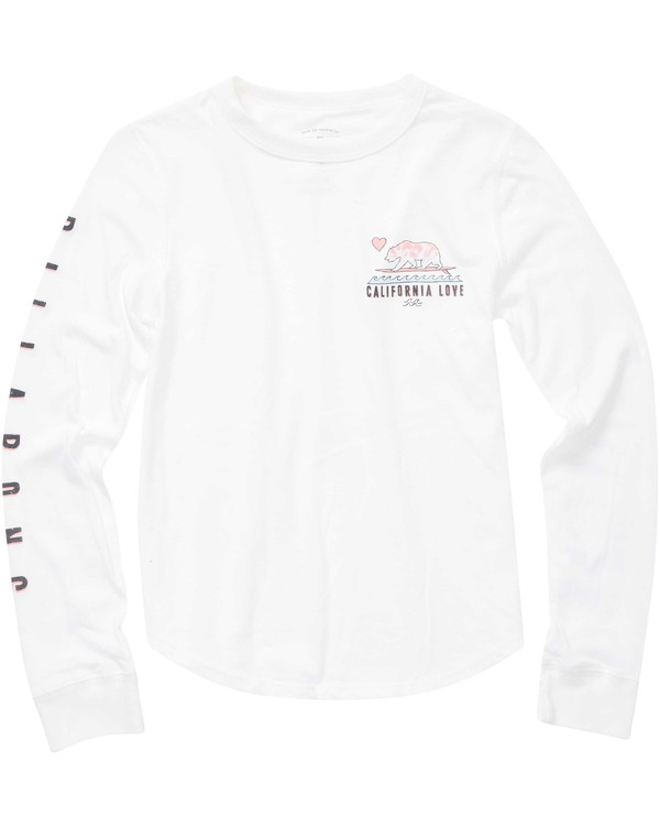 0 Girls' Surf Cali Bear Long Sleeve Tee  G420NBSU Billabong