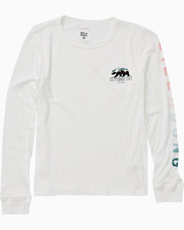 0 Girls' Moutain Bear Long Sleeve T-Shirt Beige G420VBMO Billabong
