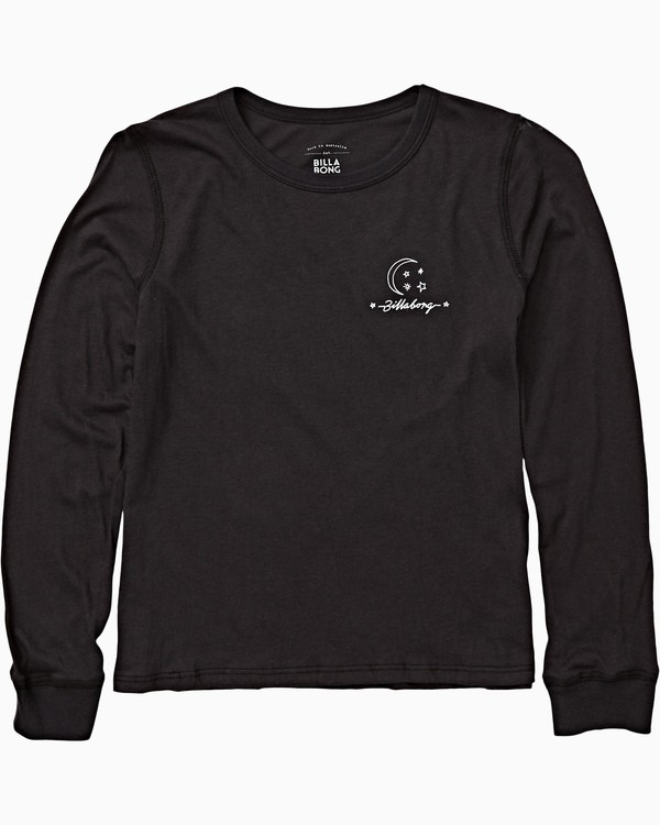 0 Girls' Over The Moon Long Sleeve T-Shirt Black G420VBOV Billabong