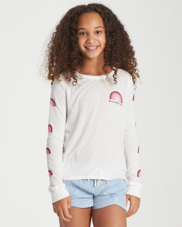 0 Girls' Over The Rainbow Long Sleeve T-Shirt  G420WBOV Billabong