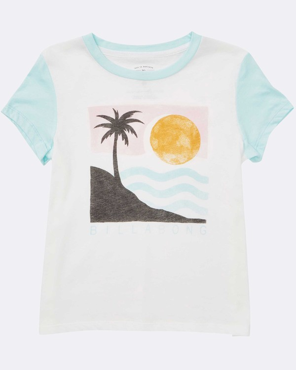 0 Girls' Waves For Days T-Shirt White G422TBWA Billabong