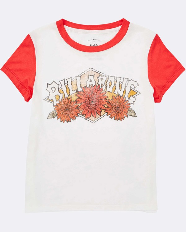 0 Girls' Wild Bloom Tee Red G422TBWI Billabong