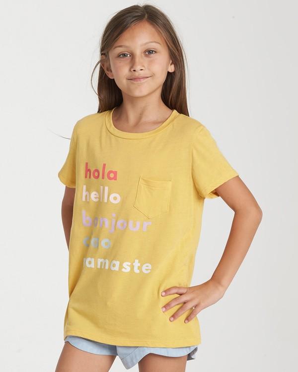 0 Girls' Hello Love T-Shirt Blue G424WBHE Billabong