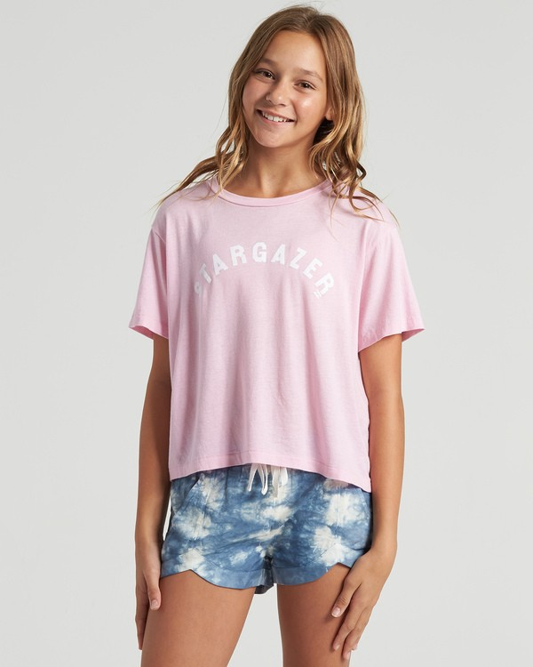 0 Girls' Stargazer T-Shirt Multicolor G4283BST Billabong