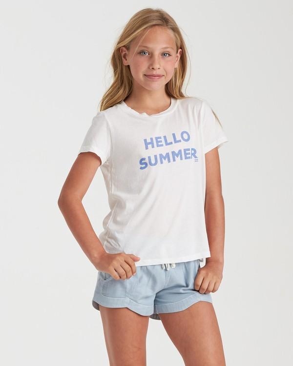 0 Girls' Hello Summer T-Shirt White G4842BHE Billabong
