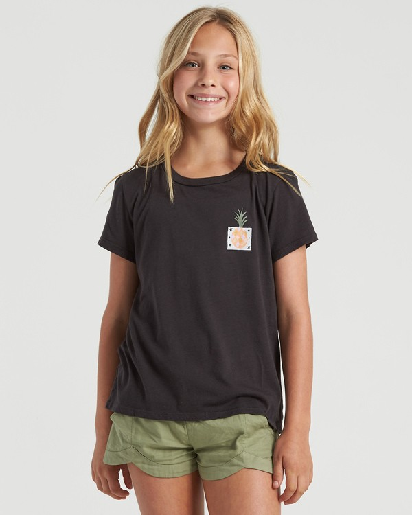 0 Girls' Modernist Pineapple T-Shirt Black G4843BMO Billabong