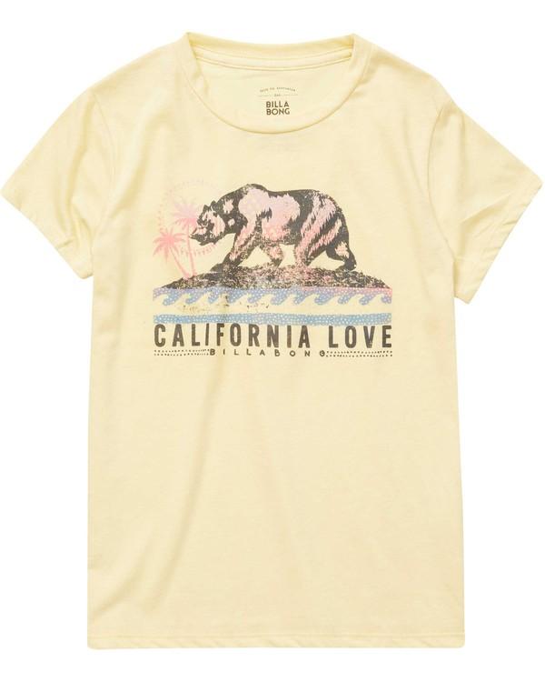 0 Girls' Cali Bear Love Tee  G484NBCA Billabong