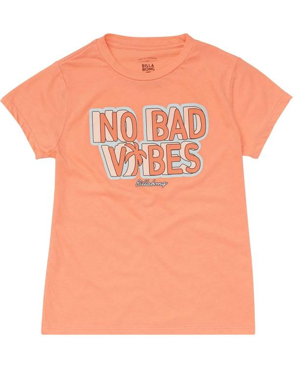0 Girls' No Bad Vibes Tee  G484PBNO Billabong