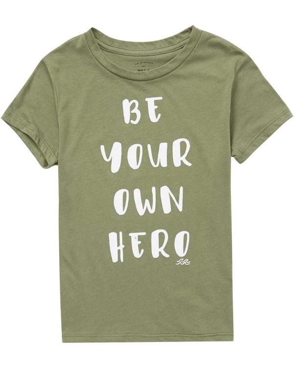0 Girls' Be A Hero T-Shirt  G484QBBE Billabong