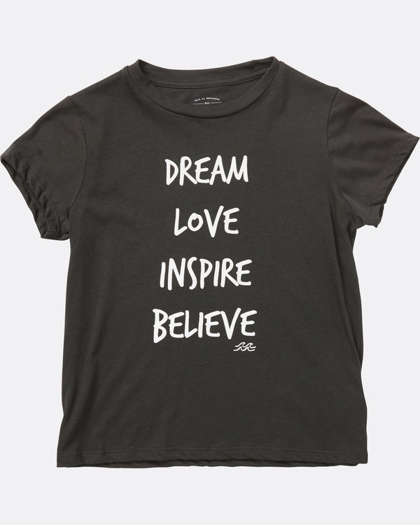 0 Girls' Inspiring Words T-Shirt  G484SBIN Billabong