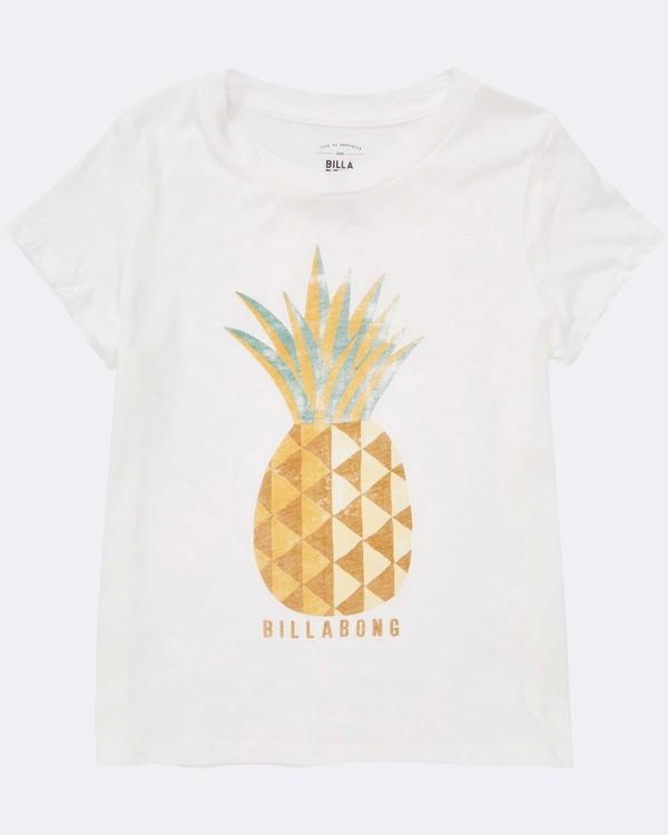 0 Girls' Sunny Pineapple T-Shirt Beige G484TBSU Billabong